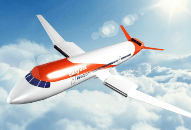 Artist's impression of the new Easyjet electric plane (Image: PA/ Easyjet)
