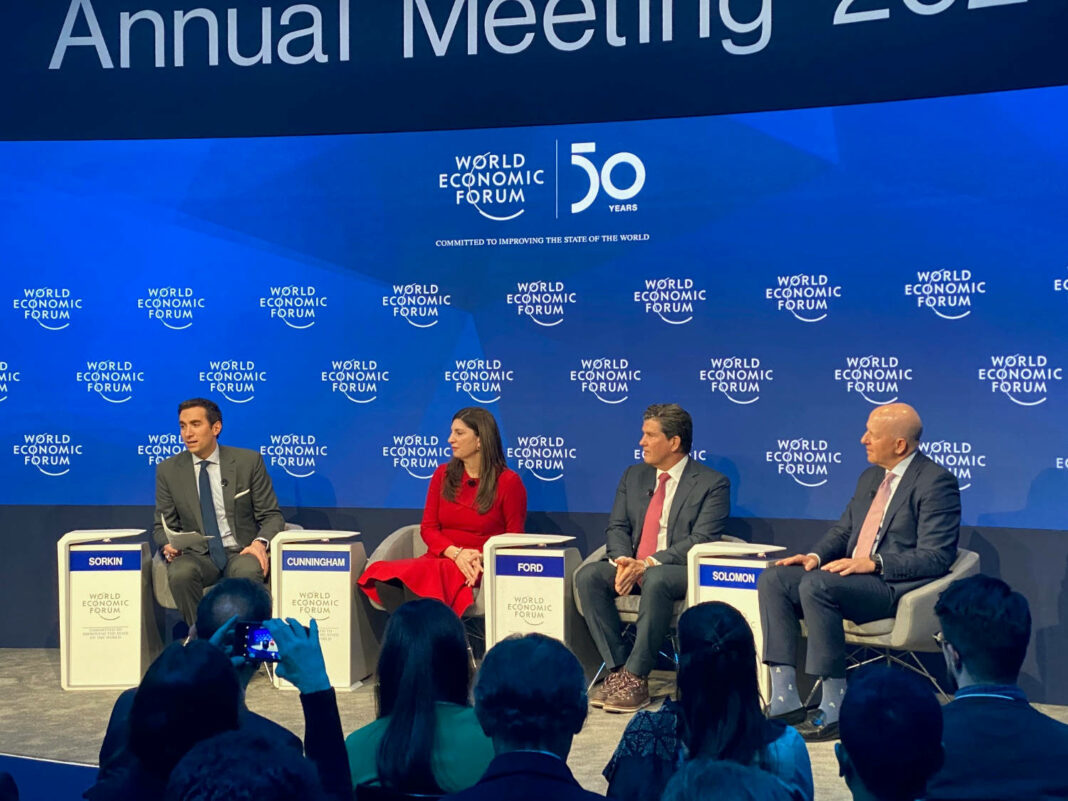 """General Atlantic CEO Bill Ford discussed the framework for valuing high-growth businesses during the event's """"Valuing Unicorns"""" panel at the 2020 World Economic Forum Annual Meetin in Davos, Switzerland"""
