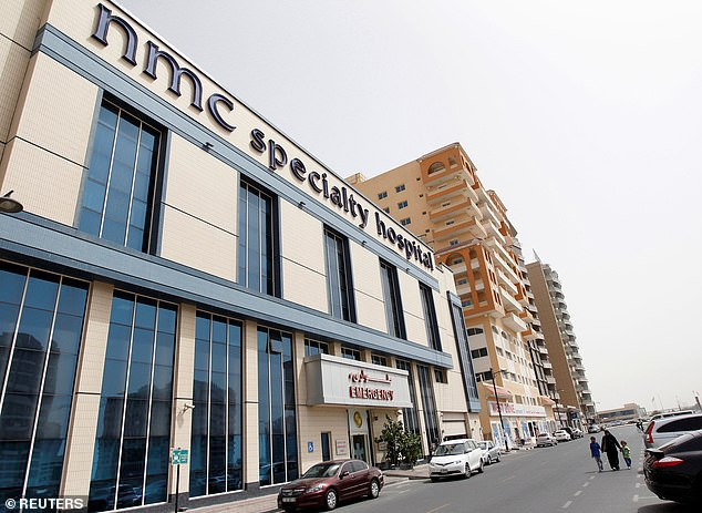 An NMC Specialty Hospital is seen in the Al Nahda area of Dubai
