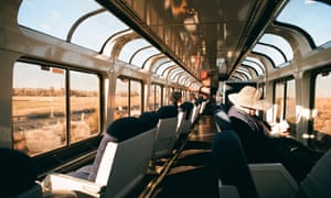 Sightseer lounge on the Southwest Chief, USA