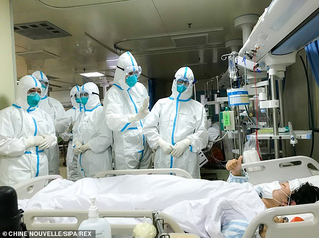 State run media have shared pictures like this one of coronavirus pictures, but the reticence of the government to let in outside scientists has drawn suspicions