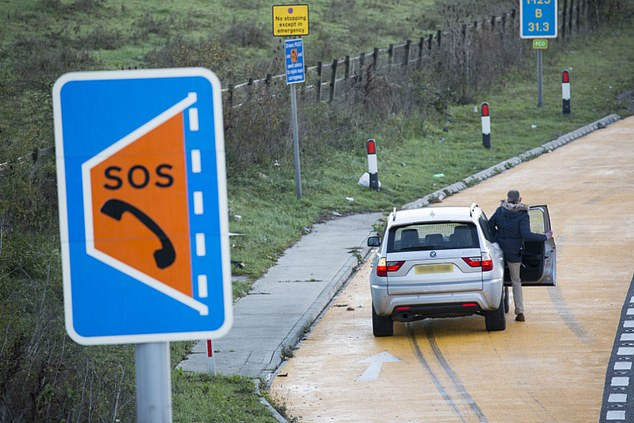 The AA has campaigned for years for Highways England to install more Emergency Refuge Areas like these on part of All Lane Running smart motorways. They only appear every 1.5 miles under initial measures put in place, which the motoring group says isn't sufficient