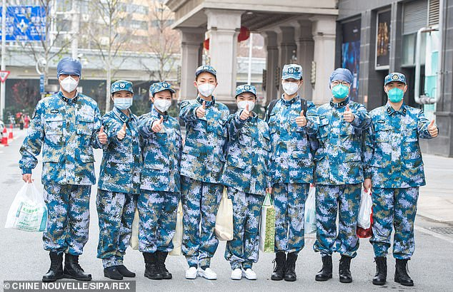 Military staff have been brought in to provide extra support to overrun Chinese hospitals