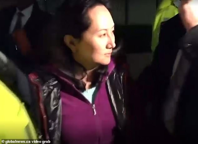 Wang Weijing, pictured, was arrested for espionage in Warsaw in January last year. She was the head of public sector sales at the Huawei enterprise