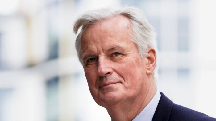 European Commission Chief Negociator Michel Barnier arrives for a meeting near the European Parliament in Brussels on January 31, 2020 on the Brexit day. - Britain's departure from the European Union was set in law on January 29, amid emotional scenes, as the bloc's parliament voted to ratify the divorce papers. After half a century of sometimes awkward membership and three years of tense withdrawal talks, the UK will leave the EU at midnight Brussels time (2300 GMT) on January 31, 2020. (Photo by Kenzo TRIBOUILLARD / AFP) (Photo by KENZO TRIBOUILLARD/AFP via Getty Images)