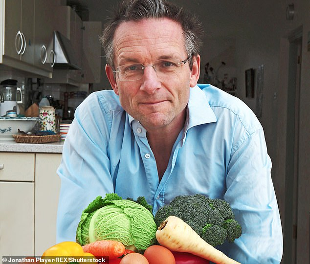 Dr Michael Mosley, joint author of 'Fast Diet', pictured at his home in Buckinghamshire