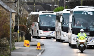 The 83 Britons were bussed 170 miles to Arrowe Parke hospital from RAF Brize Norton in Oxfordshire.
