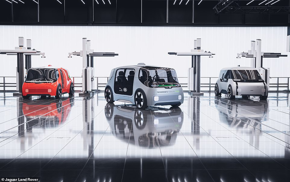 Coventry will be used as a 'living laboratory' by Britain's biggest car-maker to test how the self-driving pods interact with other vehicles, pedestrians and cyclists