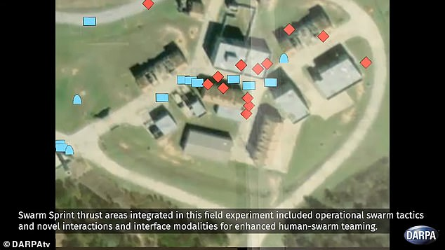 Through OFFSET, groups of up to 250 ground and air drones will be able to autonomously coordinate complex military raids, while human operators observe their movements from a computer interface