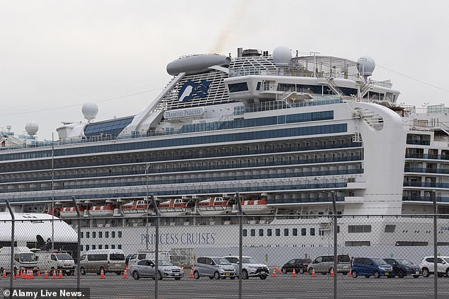 The Diamond Princess has been moored in Yokohama since February 3, and more than 630 passengers on the gigantic vessel have caught the coronavirus