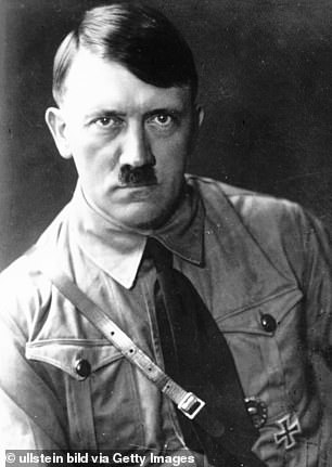 Some historians debate this and say Hitler was just wearing a popular style at the time. Pictured: Hitler, date unknown