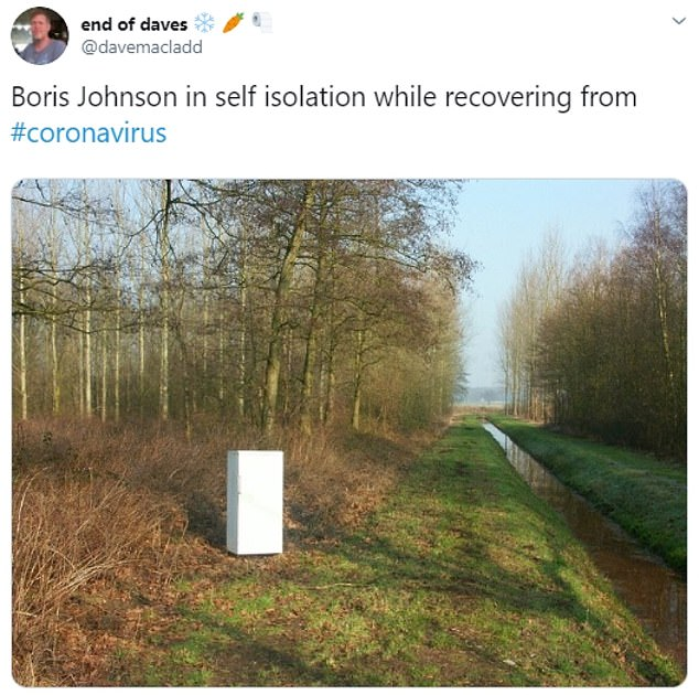 One social media user posted an image of a dumped fridge to reference the PM's disappearance into a cold store when facing questioning while on the campaign trail in last December's general election