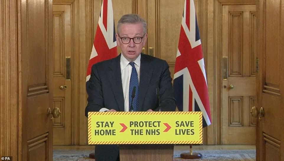 Michael Gove today said the UK must go 'further, faster' in ramping up its coronavirus testing efforts