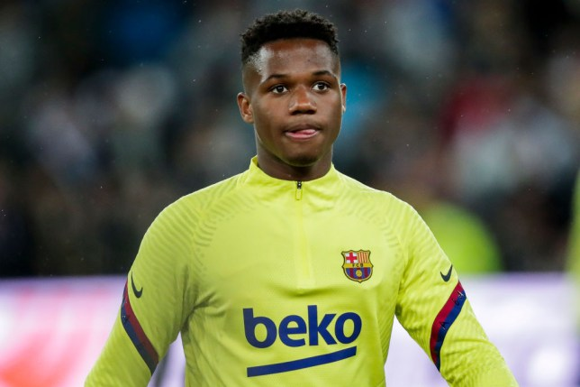 MADRID, SPAIN - MARCH 1: Ansu Fati of FC Barcelona during the La Liga Santander  match between Real Madrid v FC Barcelona at the Santiago Bernabeu on March 1, 2020 in Madrid Spain (Photo by David S. Bustamante/Soccrates/Getty Images)