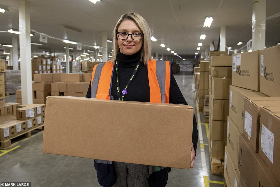 7. Checked and sorted: Warehouse worker Chelsie Faulds is glad to be doing her bit