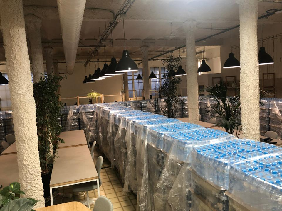 Water donation by ALDI managed at MOB/FabCafe space