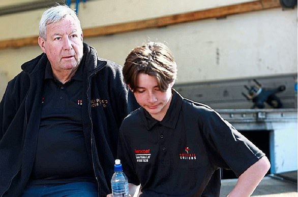 David Cleal (pictured with his grandson Bradley) has 27 employees on his payroll and his cash-flow drying up