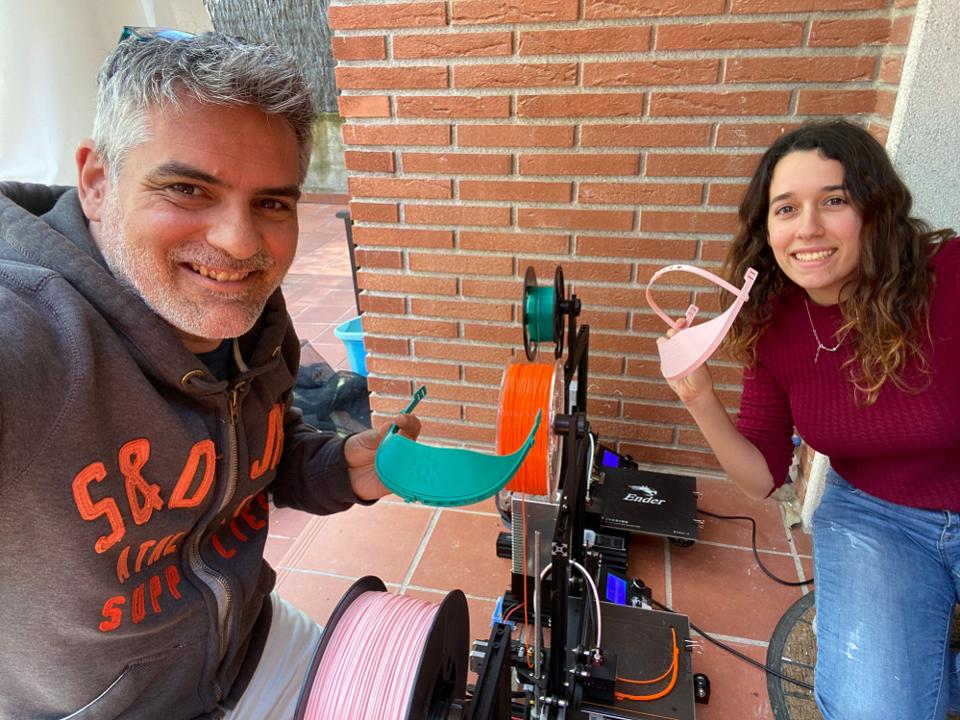 Natalia Pujades and Jordi Vallejo printing for Hospital Taulí and Hospital Vall d'Hebron, Barcelona