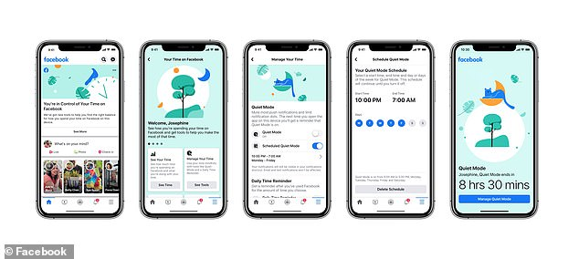 Time management tools will be couples with usage statistics that show when users open the app and how long they're active for