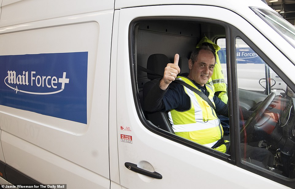 6. ... And away we go to the NHS centre: They set off for an NHS mega-warehouse in the Midlands