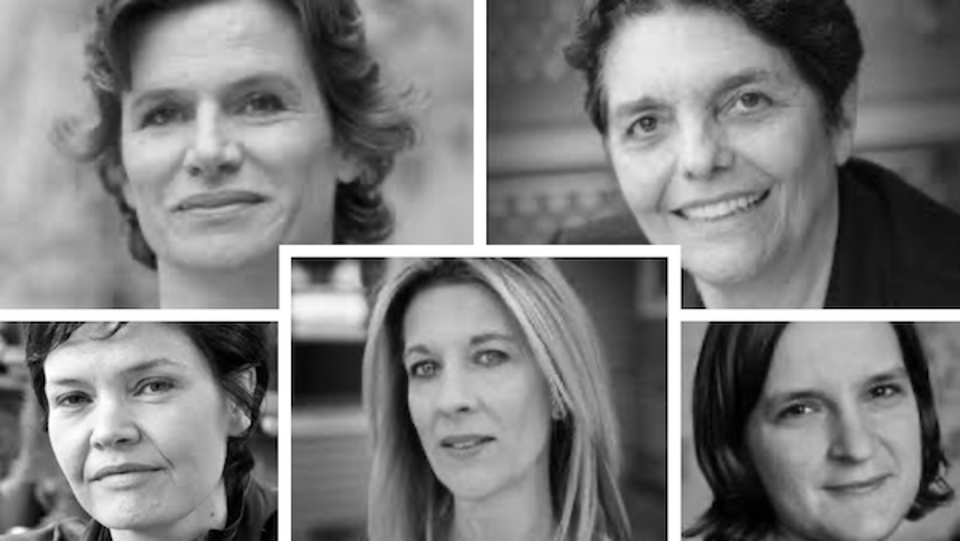Five female economists.