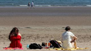 People on the beach in St Andrews