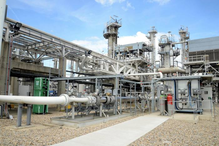 px Group's gas processing plant