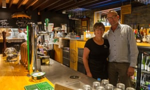 Moana and Brent MacKenzie, owners of the Trout bar.