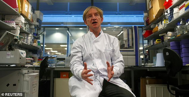 A much-anticipated coronavirus vaccine trial only has a 50 per cent chance of success Professor Adrian Hill (pictured) has warned