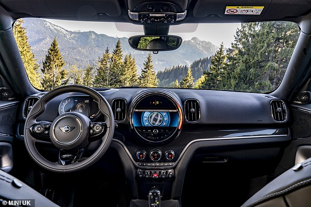 The Mini Cooper S Countryman and Mini Cooper Plug-In Hybrid ALL4 models now come with Piano Black interior surfaces for the cockpit and door bezels as standard