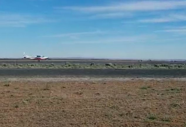 The electric plane flew around the Moses Lake facility for 28 minutes completing tests before returning to the same runway it took off from at 16.30 BST.