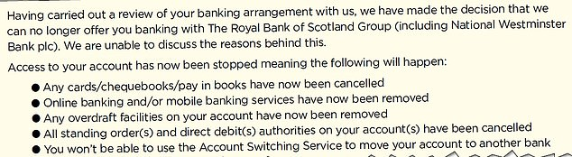 'Guilty until proven innocent': The letter sent by NatWest closing Adam Siddle's account – with no reason