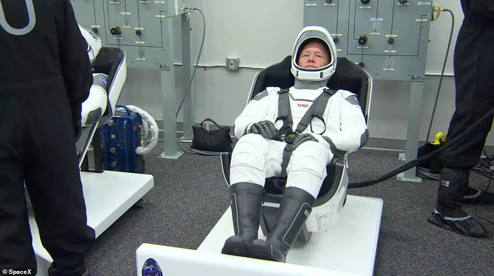 These are IVA-type suits (intravehicular activity) meaning they are not suitable for use outside the capsule because they do not provide ample protection against stellar radiation, the extreme temperatures and lack of oxygen. For a suit to work on a space walk it must be able to withstand temperatures ranging from 250F to minus 250F, intense unobstructed stellar radiation, a total lack of oxygen and also a vacuum.
