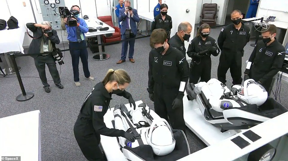 The suits also provide the astronauts with their own custom air conditioning systems so they can stay cool or warm.