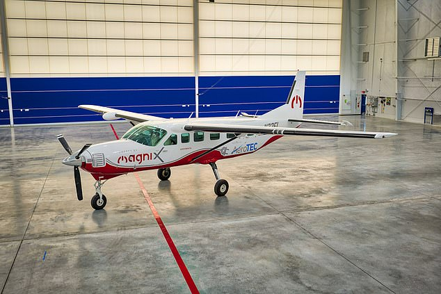 The world's largest all-electric aircraft made its maiden flight on Thursday and stayed in the air for half an hour, according to manufacturers magniX