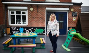 Charlotte Williams, the chief executive of Station House Community Association, which provides playgroup, after school and holiday club services in Thurnscoe, South Yorkshire.  (Pic credit: Christopher Thomond/The Guardian)