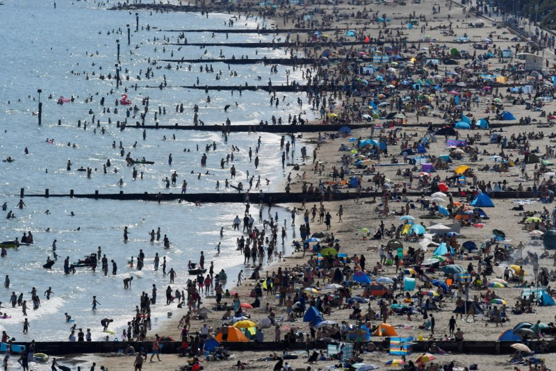 © Reuters. Outbreak of the coronavirus disease (COVID-19) in Bournemouth