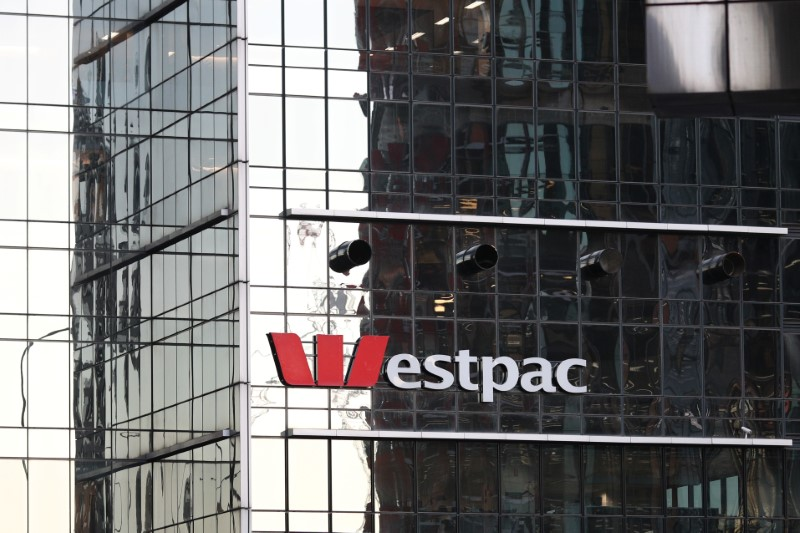 © Reuters. An office building with Westpac logo is seen in Sydney