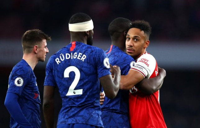 Arsenal captain Pierre-Emerick Aubameyang is coveted by Chelsea