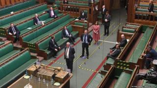 MPs line up to vote