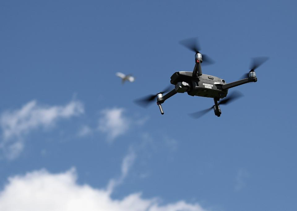 Drone Flies in Bethpage