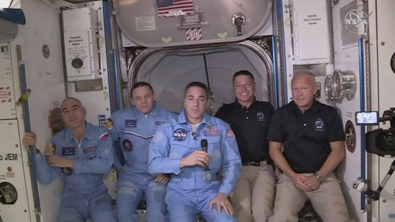 NASA astronauts reach ISS, SpaceXs Elon Musk says its the first step on a journey toward a civilization on Mars