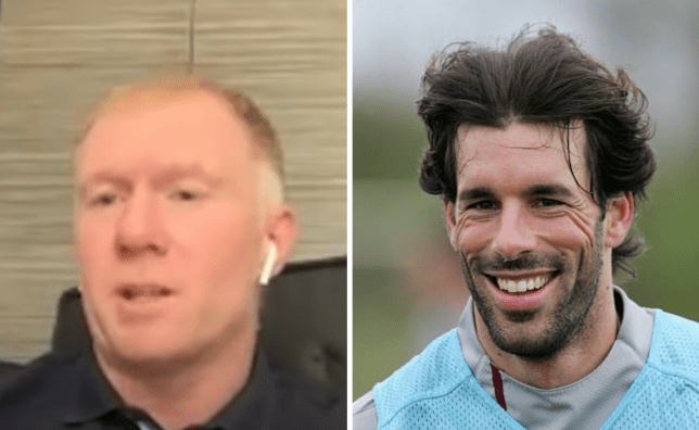 Former Manchester United players Paul Scholes and Ruud van Nistelrooy