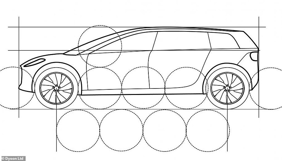 The design showed a sloping windscreen, a low roof height and plenty of space in the floor for batteries to be installed