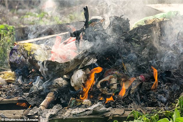 Some have been burning household rubbish on bonfires while local refuse sites were closed