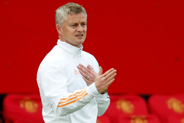 Manchester United's Norwegian manager Ole Gunnar Solskjaer shouts instructions to his players from the touchline during the English Premier League football match between Manchester United and West Ham United at Old Trafford in Manchester, north west England, on July 22, 2020.