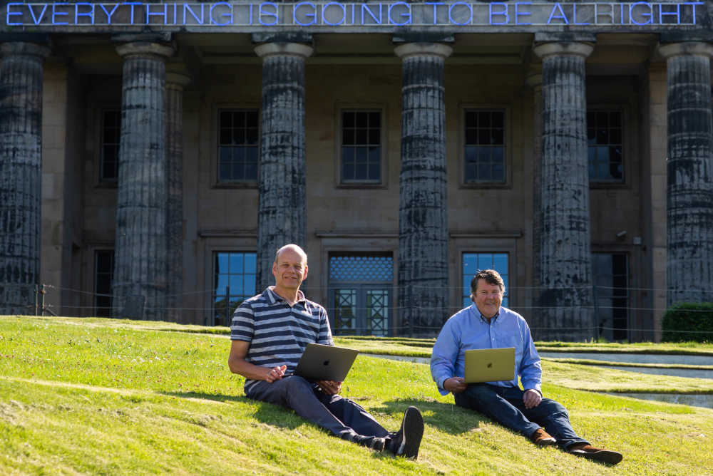 Pete Jaco and Alistair Forbes co-founders of the volunteer group Scottish Tech Army