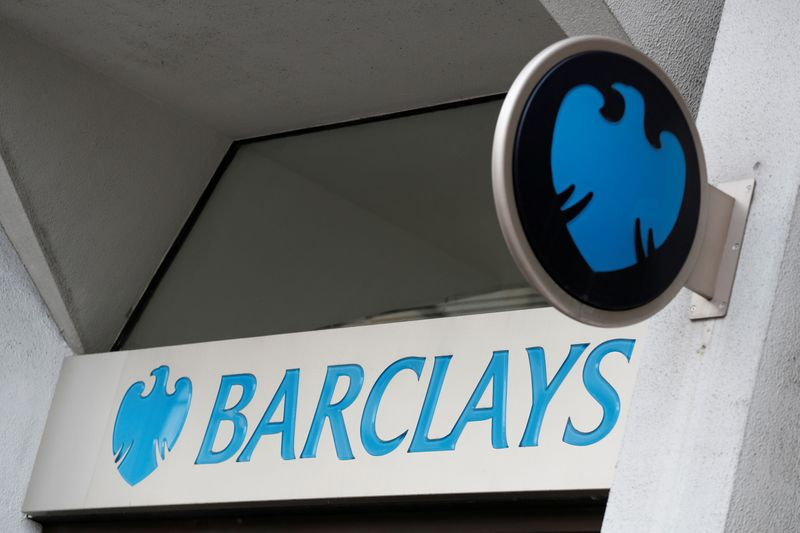 © Reuters. FILE PHOTO: A Barclays sign outside one of the bank's London branches