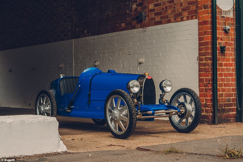 Bugatti is selling a model of its famous Type 35 racer which won the 1926 Grand Prix World Championship.The not-quite-full-size modern incarnation (pictured) is a toy and not intended to be used as a road-going vehicle