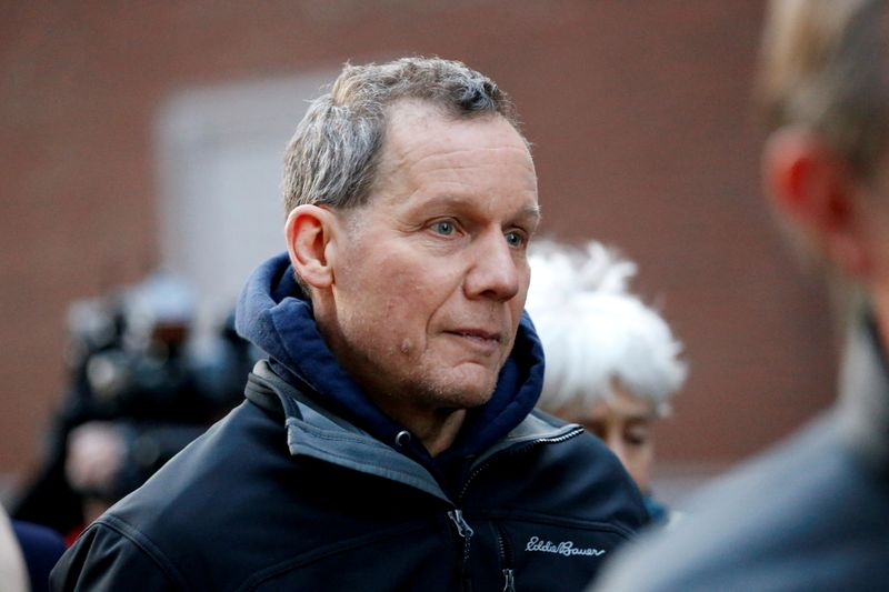 © Reuters. FILE PHOTO: Lieber leaves federal court after being charged in Boston